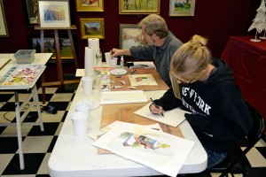 Watercolor classes with instructor P.J. Cook