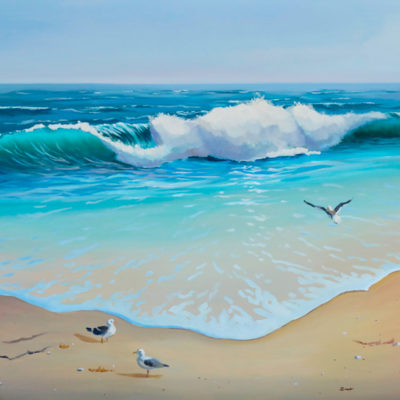 ocean wave oil on canvas 16x20