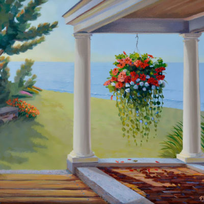 """SEASIDE PORCH WITH FLOWERS"""""