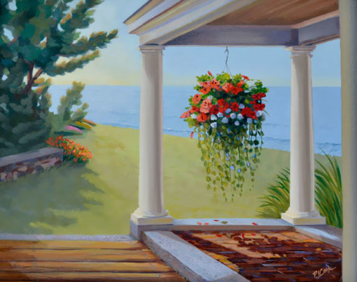 """""""SEASIDE PORCH WITH FLOWERS"""""""""""