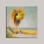 """Florida Palm Tree"", oil on canvas panel, ©2015 PJ Cook."