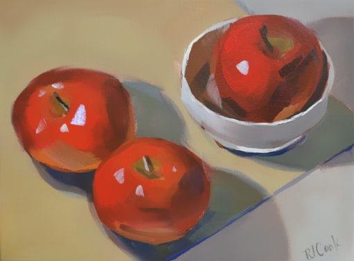still life with apples oil painting