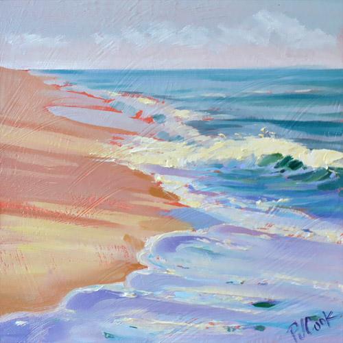 Fort Lauderdale, Florida, ocean waves, beach oil painting