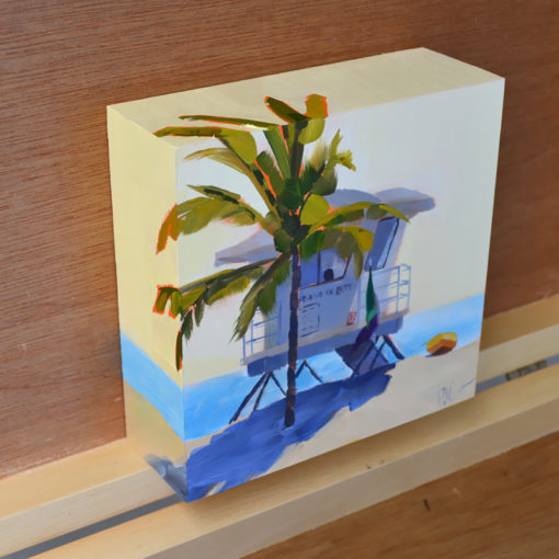 lifeguard station fort lauderdale beach oil painting