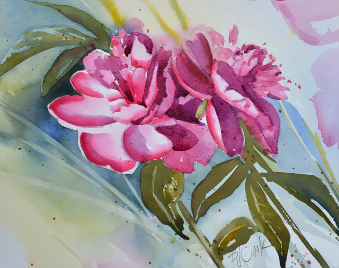 Pretty In Pink Floral Pj Cook Gallery Of Original Fine Art