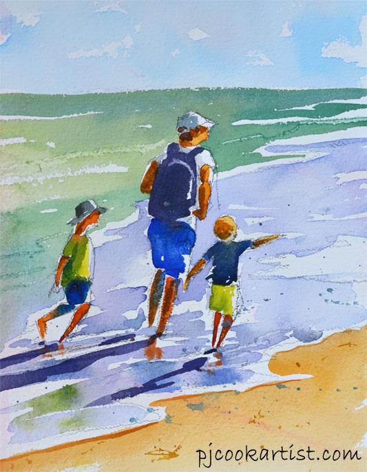 figure-sketch-beach