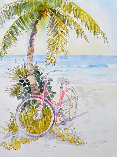Pink Beach Cruiser Pj Cook Gallery Of Original Fine Art