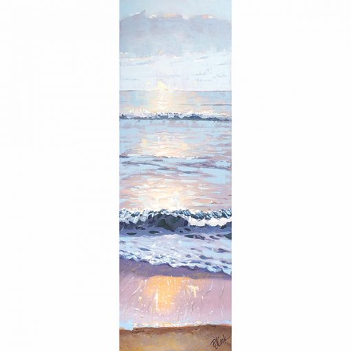 Sunrise over the atlantic, ft lauderdale, FL oil on canvas painting.