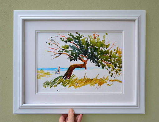 ocean view delight original watercolor painting
