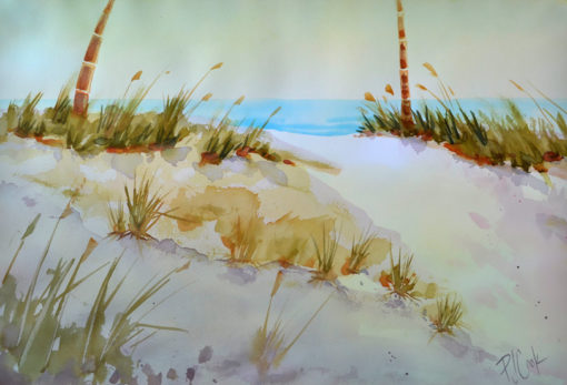 Sand Dune Aglow watercolor 14x20