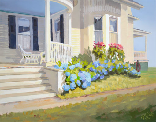 Hydrangea Blue oil on panel 11 x 14 inches