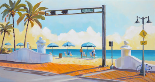 Ft Lauderdale beach morning, 10 20 oil on canvas.
