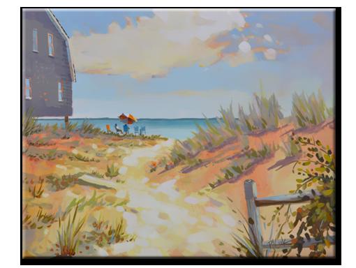 Ocean Oasis, 16 x 20 oil on panel, PJ Cook.