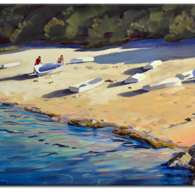 One More Day On the Water, oil on board, 16x20, ©2018 PJ Cook.
