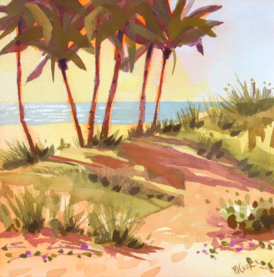 Ft Lauderdale Beach at Las Olas, original painting, series number 5.