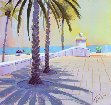 Ft Lauderdale Beach at Las Olas, original painting, series number 1.