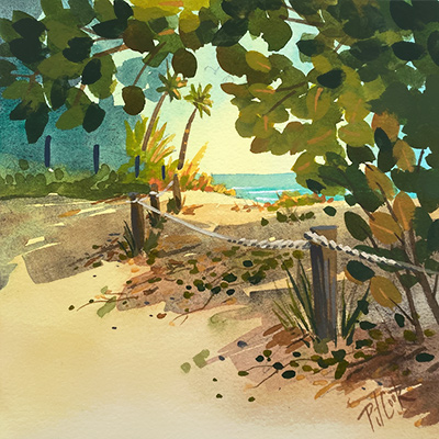 fort lauderdale beach series II, #3 painting